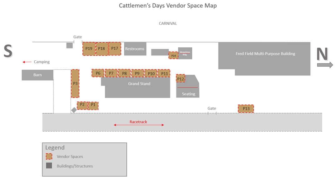 Cattlemens Days Vendor Map