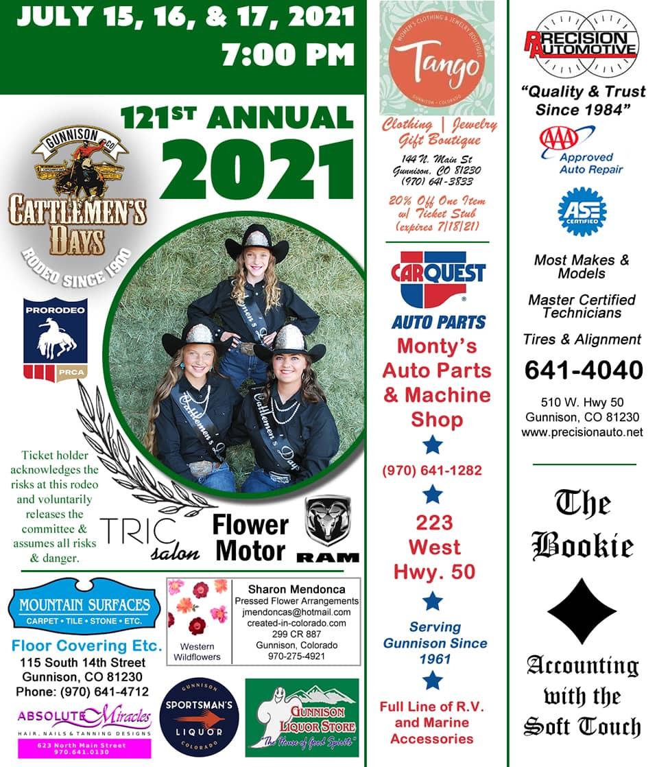 2021 Cattlemen's Days Tickets
