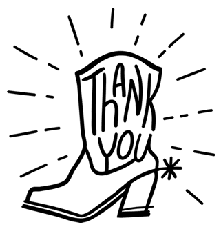 Cowboy Boot Thanks Sponsors Picture